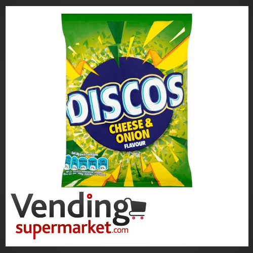 Discos Cheese & Onion Crisps (24x25.5g) £9.32