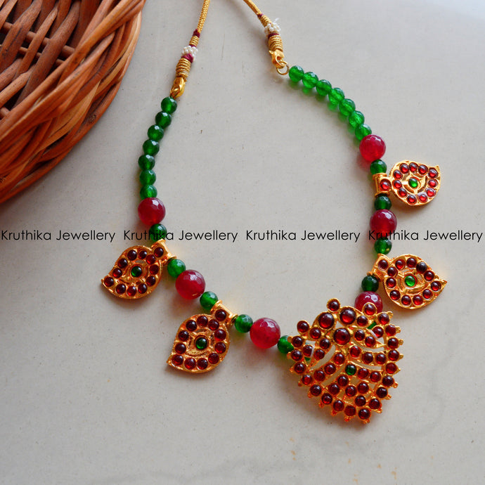 Green beads Kemp Necklace