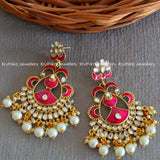 Kundan Enamel Earrings