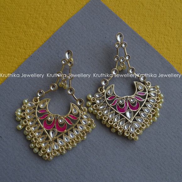 Light Weight Kundan Earrings