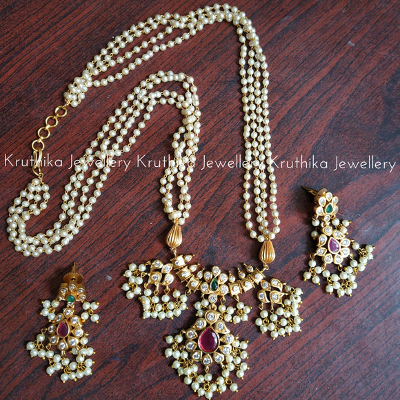 Pearls set with Guttapoosalu Pendant set