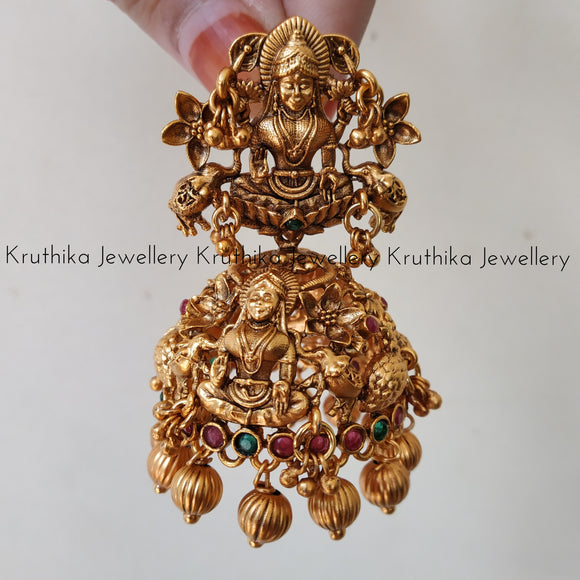 Antique Lakshmi Devi Jhumkas