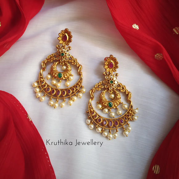 Beautiful Matte CZ Chandbalis