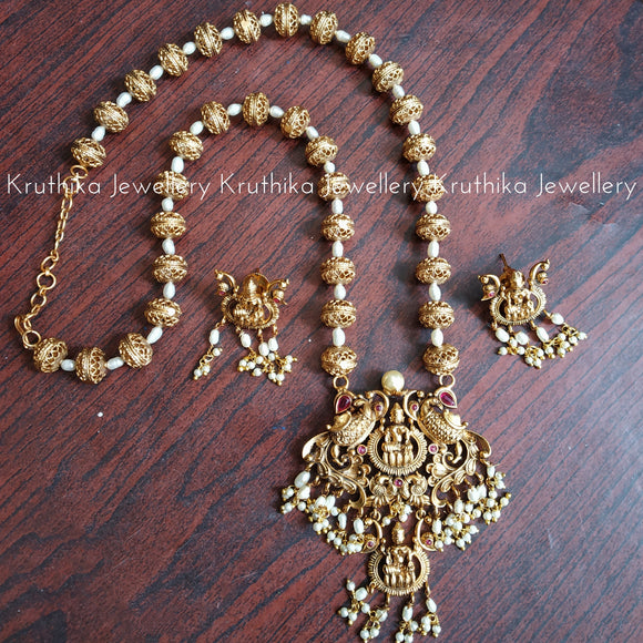 Lakshmi Devi Beads Set with rice pearls