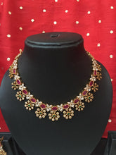 CZ flower necklace NC193