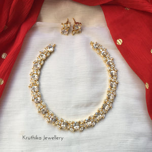 Gold like AD stone necklace Nc160