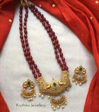 Honex ruby beads peacock haaramLH68