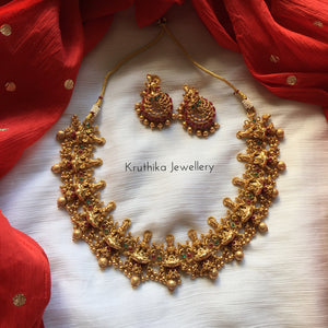 Lakshmi Devi necklace set