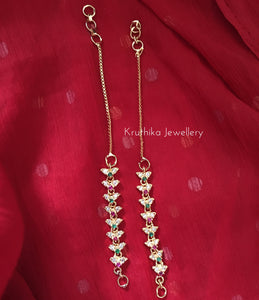 Gold finish cz flower maatis