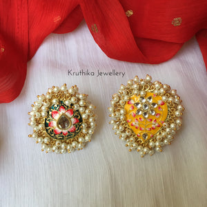 Big Meenakari adjustable finger rings