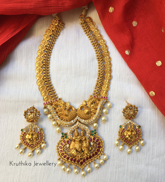 Kasu necklace with Radha Krishna pendant NC39