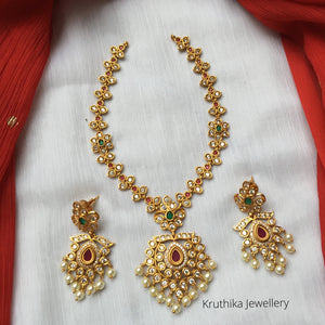 Pretty CZ necklace set NC93