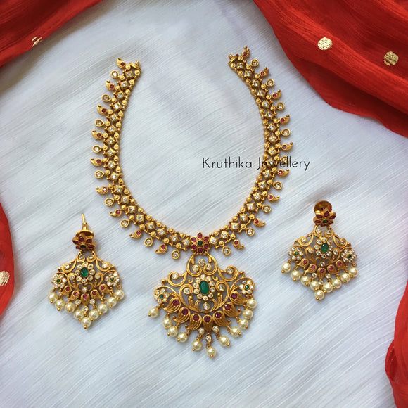 Best selling flower necklace set NC23