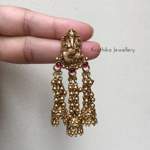 Ganesha earrings E52