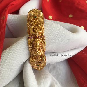 Intricate Lakshmi Devi peacock kada bangle B33