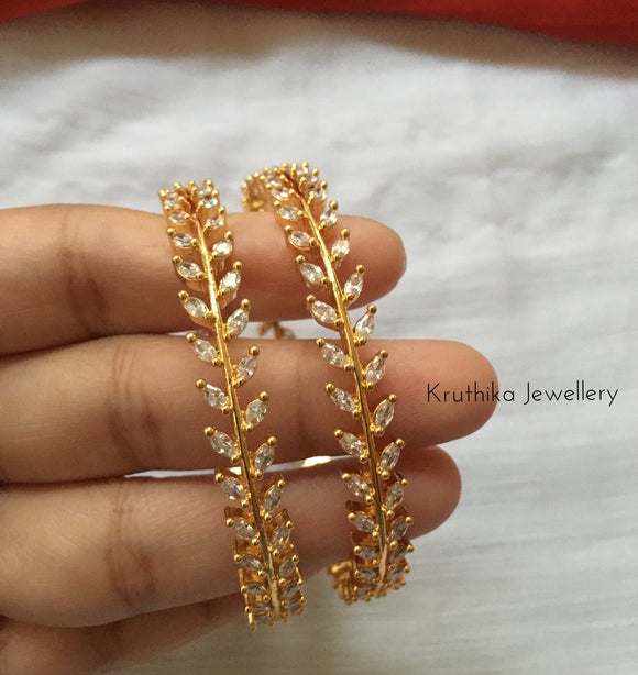 Gold finish CZ Bangles B21