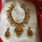 Finest quality Goddess stone bridal necklace set NC112