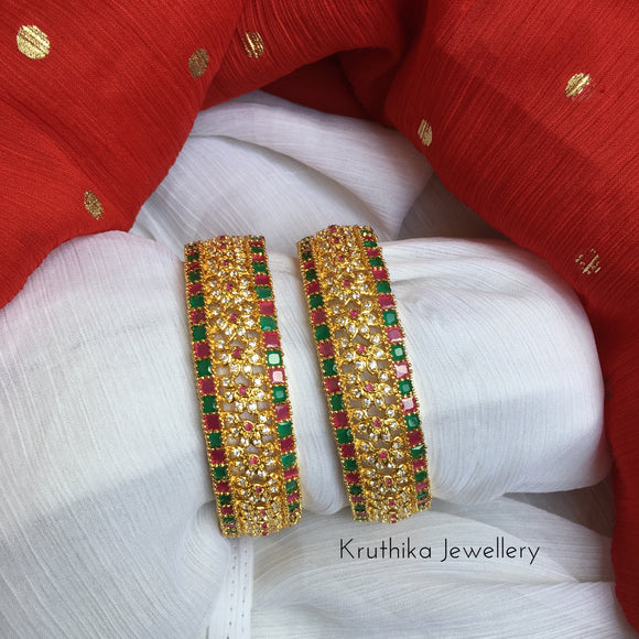 Multi color cz bangles B19