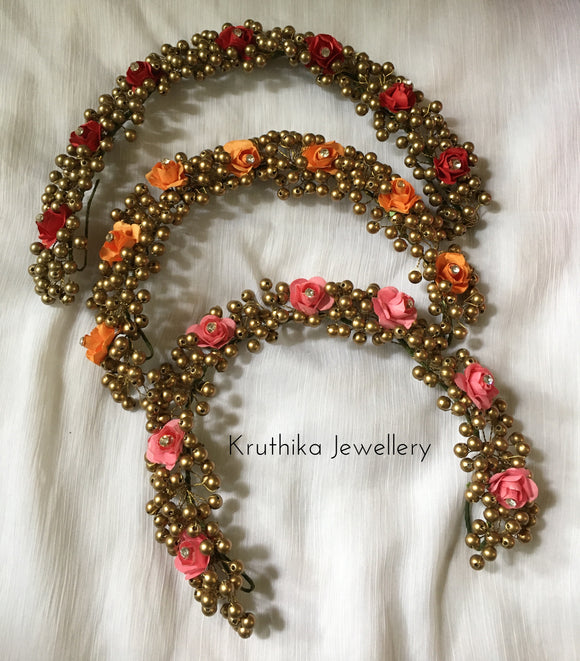 Rose beads veni (long length)