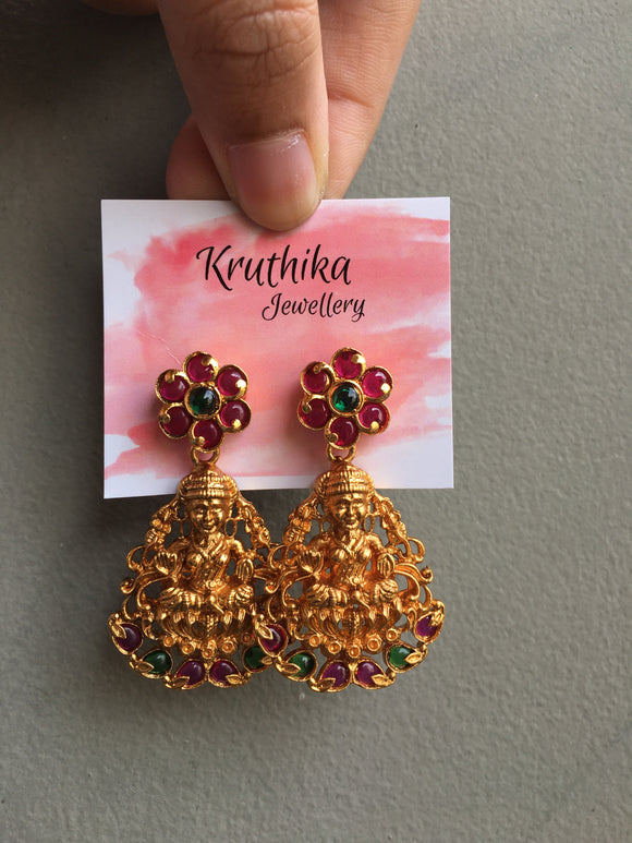 Real kemp Goddess earrings