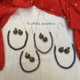 Simple Stone necklace set GS1