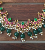 High quality kundan half moon Jadau necklace KN3