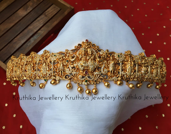Beautiful stone studded Dasavatharam hip belt V14