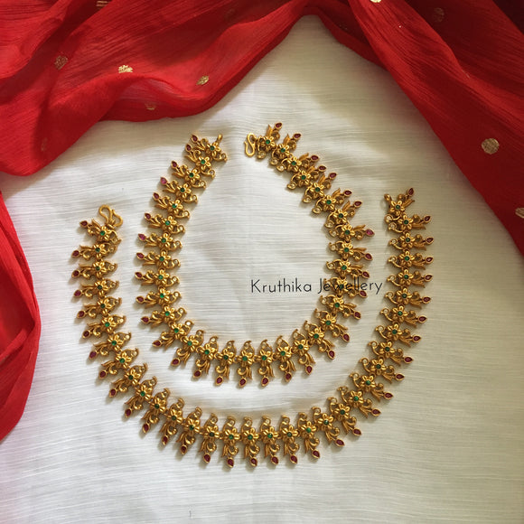 Matte finish stone payal (anklets)