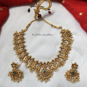 Antique polish Guttapoosalu necklace set NC27