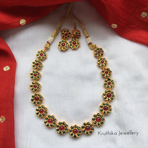 Premium kempu flower necklace NC80