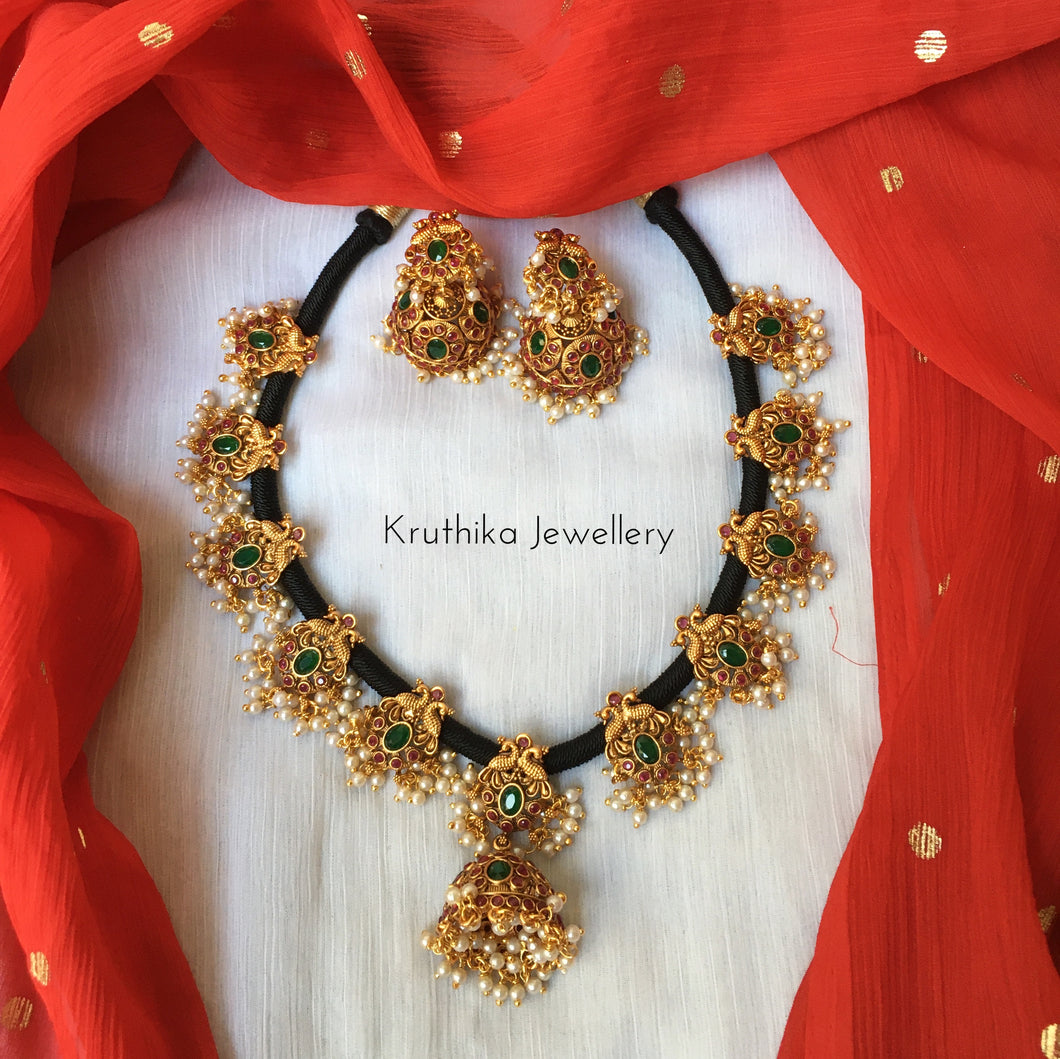 Jhumki Thread necklace set