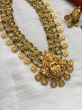 Three lines Emerald pearl bridal Kaasula haaram
