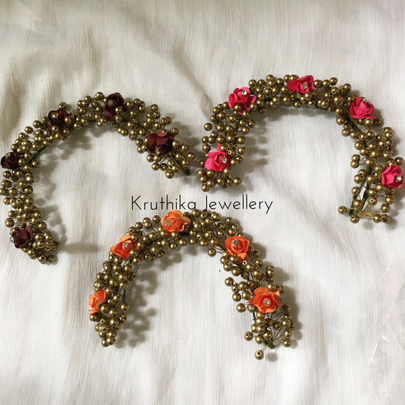 Rose golden beads veni (short length)