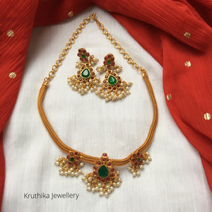 Simple Guttapoosalu pendant necklace NC89