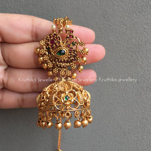 Kemp Jhumkas with Ear chains E15
