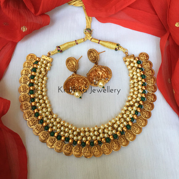 Kasu beads choker set