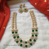 Gold like CZ Emerald necklace NC128