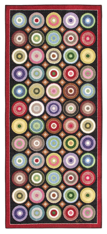 Circles Revisited Washable Runner 1168