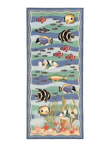 Coral Reef Washable Runner 1189