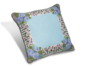 "Rose and Hydrangea 16"" Pillow PRG16"