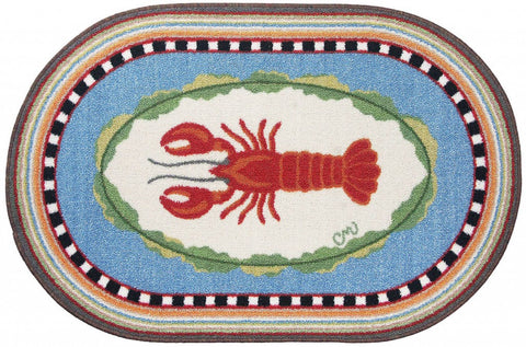 Lobster Oval Washable 1144