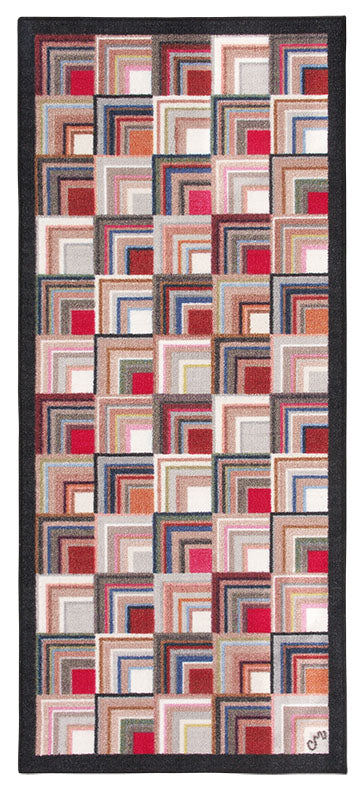 Log Cabin Washable Runner 1166