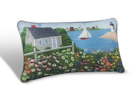 "Nantucket Scenic Lumbar 19"" Pillow PNS"