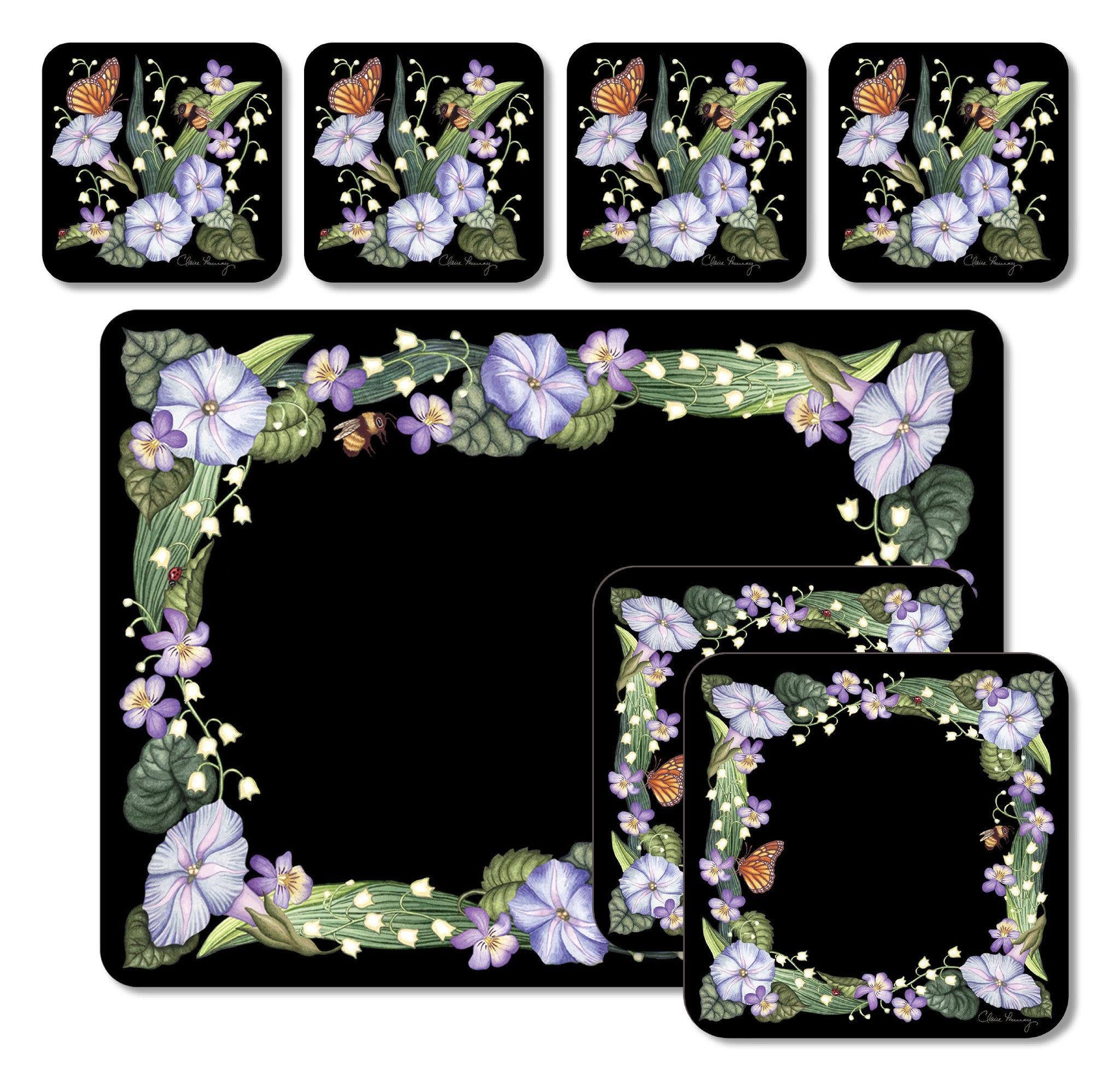 Morning Glories Tableware Set