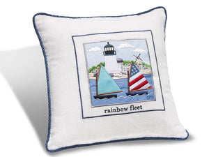 "Rainbow Fleet 14"" Embroidered Pillow"