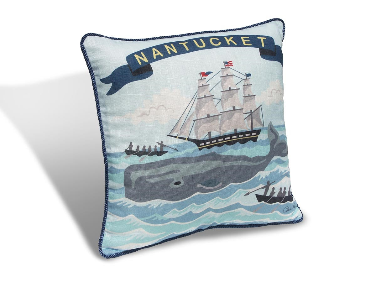 "Nantucket Whaler 16"" Pillow PNW16"