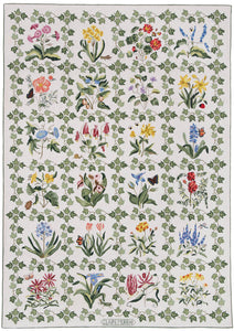 Botanical Grid White 6 x 9 R708WH