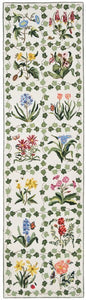 Botanical Grid 10' Runner White R712LWH