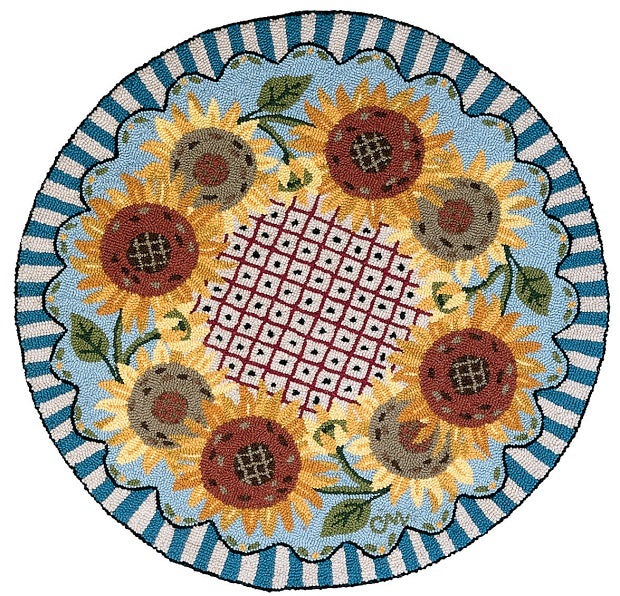 French Sunflower Wreath 3' Round R747
