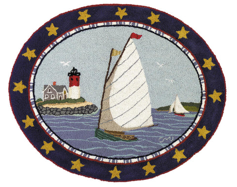 Cape Cod Cat Boat Oval R1005